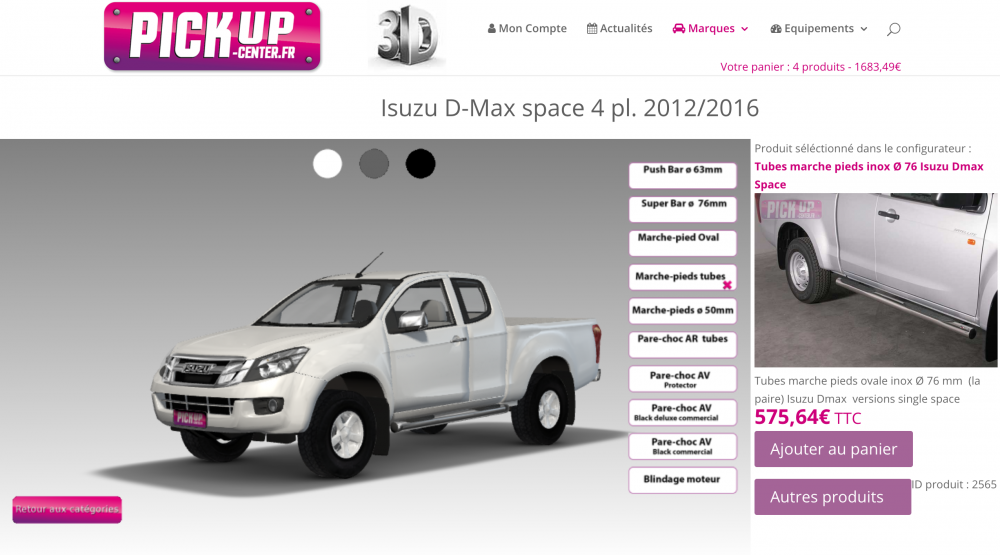 Configurateur 3D Pickup-center.fr