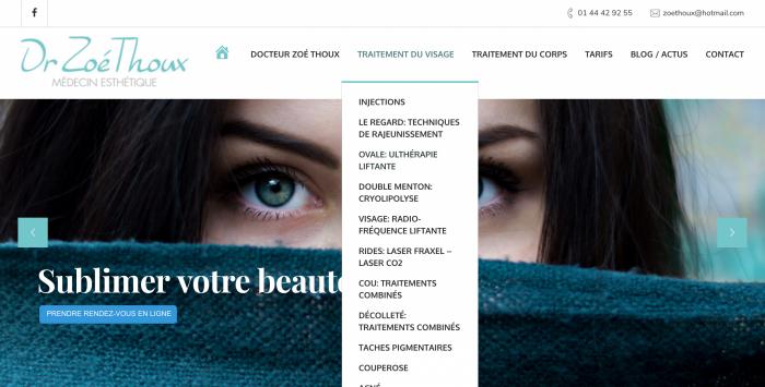 Site web Docteur Zoe THOUX