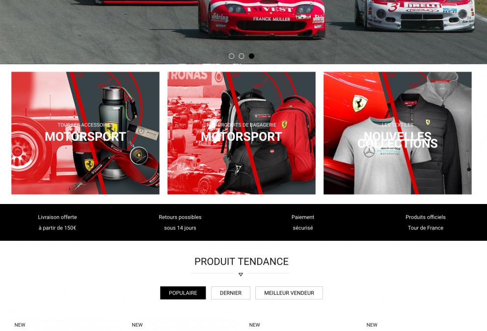 Nouveau site e-commerce développé en un temps record