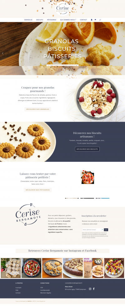 Cerise Bergamote site e-commerce