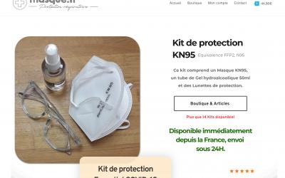 Site de vente en ligne de masque, Arnaque  ou site mal fait ?